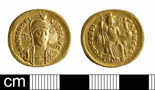 BH-FCFC92: Roman coin: solidus of Honorius