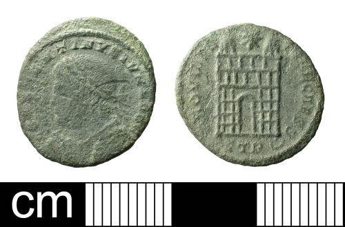 BH-319D26: Roman coin: nummus of Constantine II as Caesar