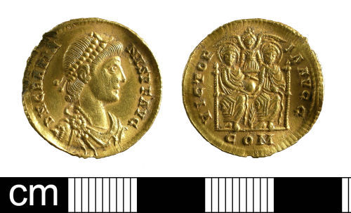 A resized image of Roman coin: solidus of Gratian