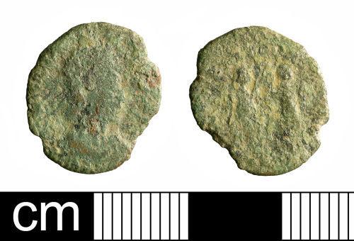 BH-B38FA1: Roman coin: nummus of Constantius II or Constans