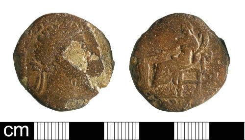 BH-C04597: Roman coin: sestertius of Commodus