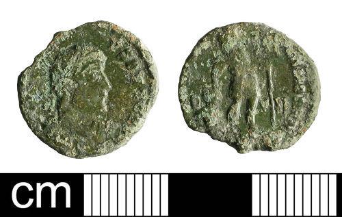 BH-889AD7: Roman coin: nummus of Gratian