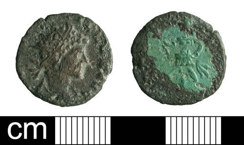 BH-014345: Roman coin: radiate of Quintillus