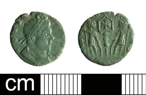 BH-95A4C6: Roman coin: nummus of The House of Constantine