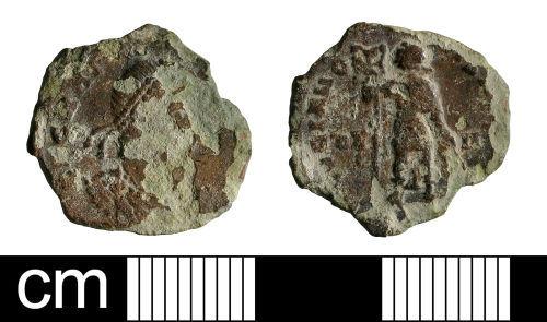 BH-56E9C7: Roman coin: nummus of Gratian