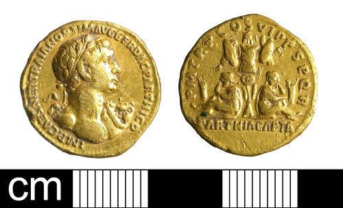 BH-80B838: Roman coin: aureus of Trajan