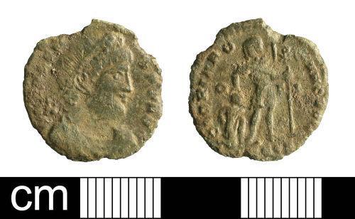 BH-3AF1C2: Roman coin: nummus of Valens