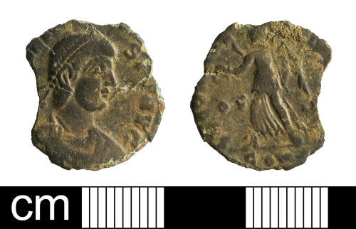 BH-3AA2B4: Roman coin: nummus of Valens