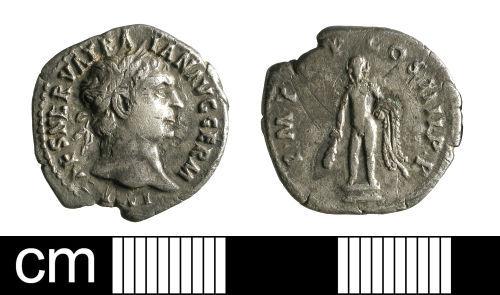 BH-E7ED42: Roman coin: denarius of Trajan