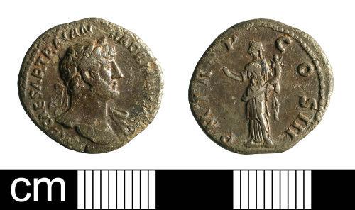 BH-E343C5: Roman coin: denarius of Hadrian