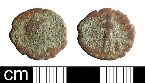 BH-D13221: Roman coin: nummus of Gratian