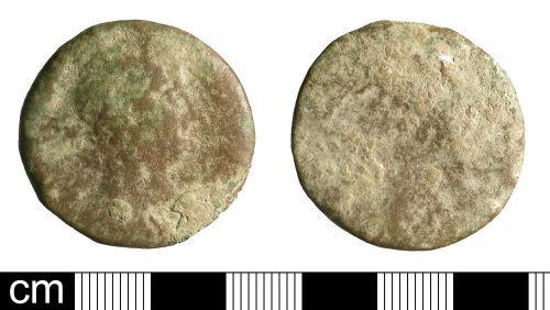 BH-4528A7: Roman coin: sestertius of Trajan or Hadrian (probably)