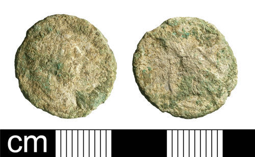 BH-745533: Roman coin: radiate of Carausius (probably)