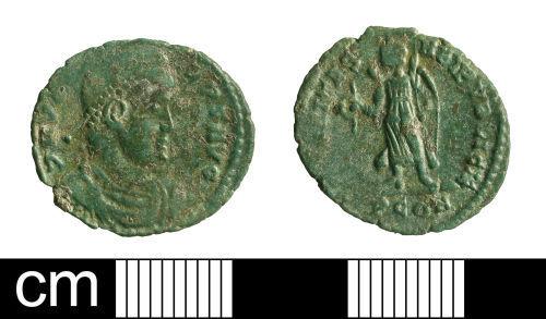 BH-3DA934: Roman coin: nummus of Valens
