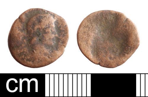 BH-F4E368: Roman coin: nummus of uncertain ruler