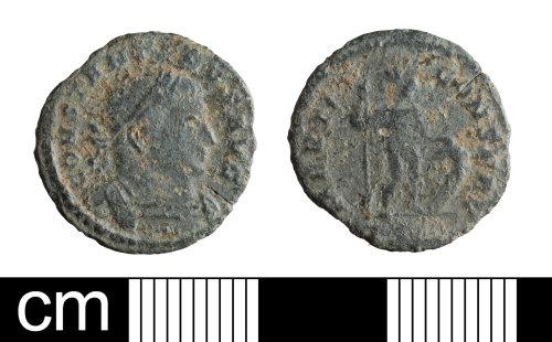 BH-C34EA8: Roman coin: nummus of Constantine I