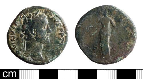 BH-4952D5: Roman coin: sestertius of Antoninus Pius