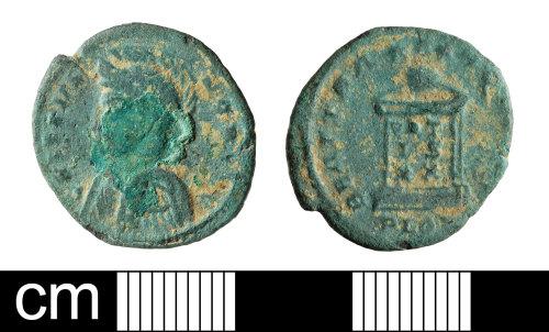 BH-30CC8C: Roman coin: nummus of Crispus