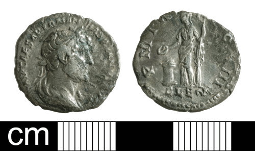 BH-D6E5EB: Roman coin: denarius of Hadrian