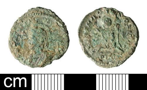 BH-7C6BB3: Roman coin: nummus of Constantine II as Caesar