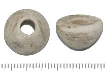 A resized image of 1637 Roman Ceramic spindle whorle.JPG