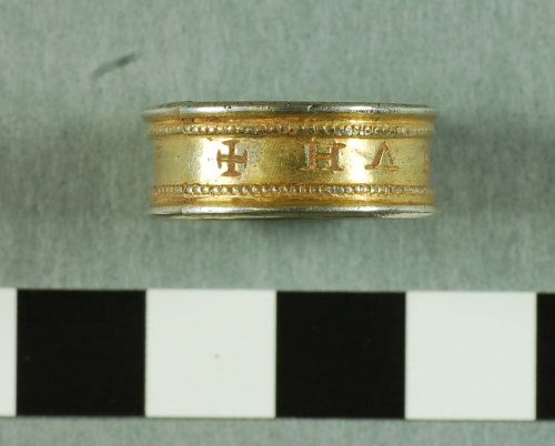 A resized image of 2007 T383 Post Medieval silver finger ring view 2