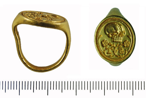GLO-240F91: 2009 T133 Gold Post Medieval finger ring
