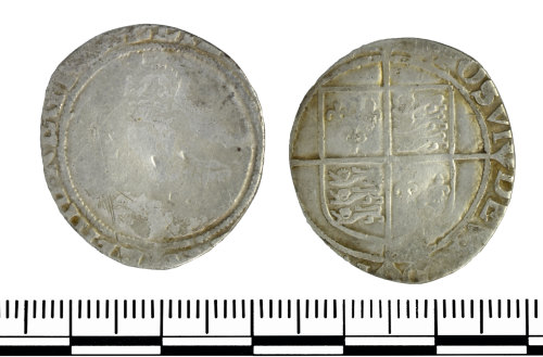 GLO-D08B5D: 2 GLO-D08B5D coin of Elizabeth I
