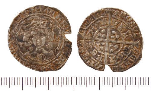 GLO-E082A3: GLO-E082A3 Silver groat of Edward IV