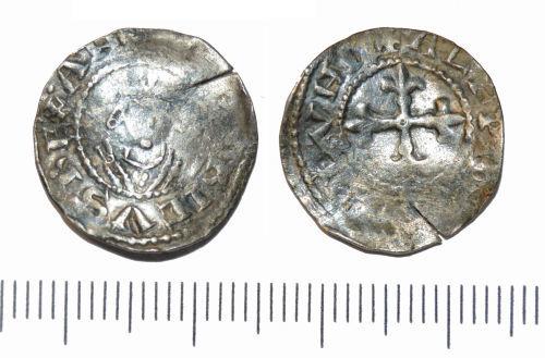 GLO-FCC327: GLO-FCC327 silver medieval penny of Henry I
