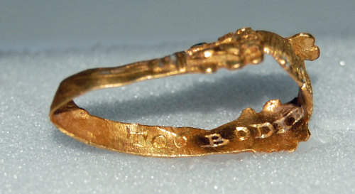 A resized image of GLO-717CE0 Gold finger ring view 3