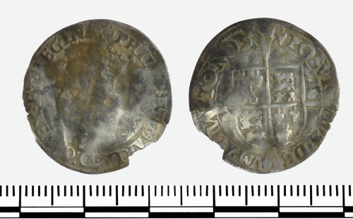 GLO-469696: GLO-469696 Silver half groat of Philip and Mary