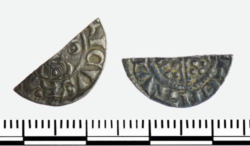 GLO-473E63: GLO-473E63 Cut Half penny of John