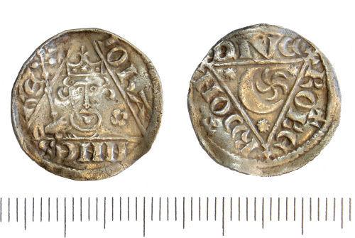 A resized image of GLO-730921Medieval Irish Penny of John