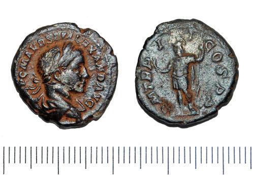 GLO-79FD15: GLO-79FD15 Denarius of Severus Alexander