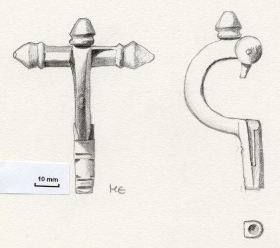 NLM673: bow brooch