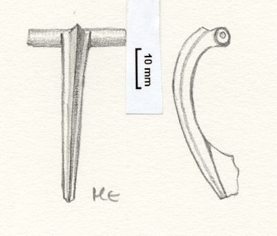 NLM764: Bow brooch