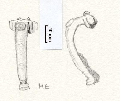 NLM805: bow brooch