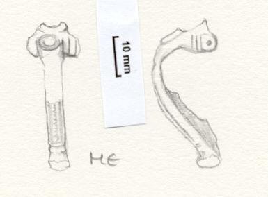 NLM807: bow brooch
