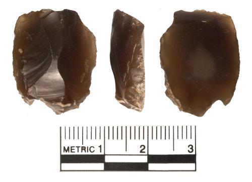 WAW-713C25: Neolithic flint scraper