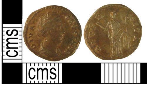 KENT-320A67: A struck copper alloy Roman coin