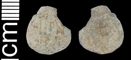 HAMP-F7A5D6: Post medieval cloth seal (fragment)