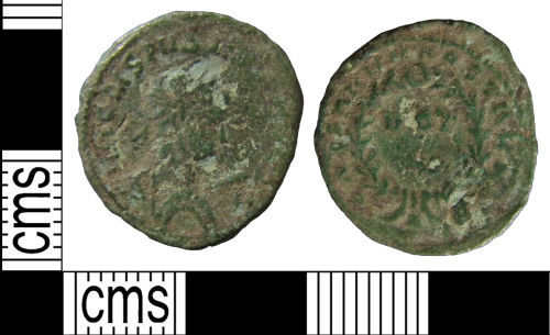 HAMP-FB4361: Roman coin: Nummus of Crispus