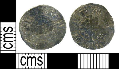 LON-139AE4: Medieval coin: halfpenny of Edward III