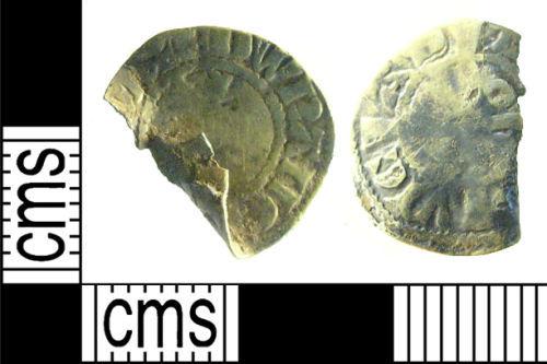 LON-361F32: Medieval coin: Long cross half penny