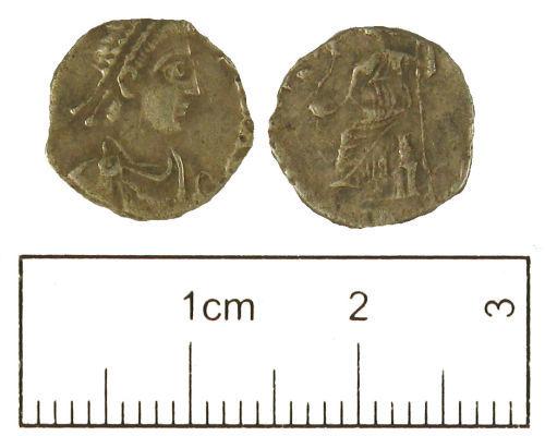 LON-445023: Roman coin: Late 4th to early 5th century siliqua of uncertain emperor