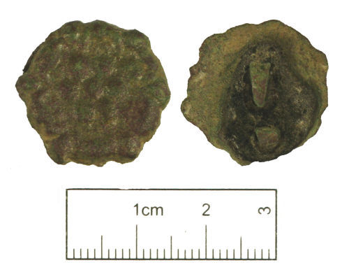 A resized image of Post medieval copper alloy mount