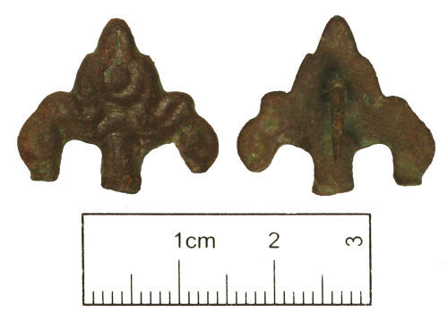 A resized image of Post medieval copper alloy decorative mount