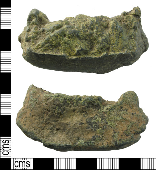 A resized image of Medieval to post medieval vessel (leg fragment)