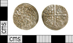 A resized image of Medieval coin : Edwardian sterling imitation, Valéran de Ligny